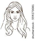 illustration face in white... | Shutterstock . vector #559273081