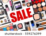 makeup and beauty sale concept. ... | Shutterstock . vector #559276399
