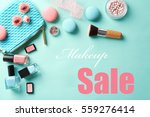 makeup and beauty sale concept. ... | Shutterstock . vector #559276414