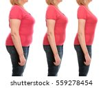 mature woman's body before and... | Shutterstock . vector #559278454