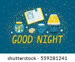 vector night background with... | Shutterstock .eps vector #559281241