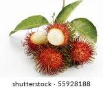 Asian Fruit Rambutan On The...