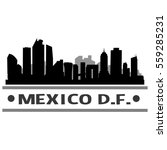 mexico d.f. skyline silhouette  | Shutterstock .eps vector #559285231