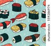sushi seamless pattern.... | Shutterstock .eps vector #559286974