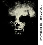 Skull On Isolated Black...