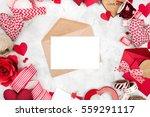 Blank Present Valentine Card
