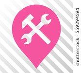 pink workshop map marker... | Shutterstock .eps vector #559294261
