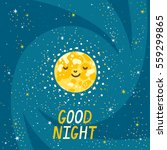 vector night background with... | Shutterstock .eps vector #559299865