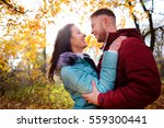 portrait of young loving couple ... | Shutterstock . vector #559300441