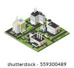 vector isometric industrial... | Shutterstock .eps vector #559300489