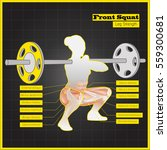 antagonistic muscle exercises... | Shutterstock .eps vector #559300681