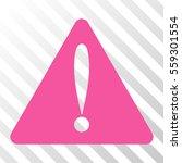pink warning error toolbar icon....
