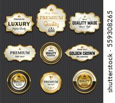 luxury premium golden labels... | Shutterstock .eps vector #559308265