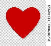 valentine red heart on... | Shutterstock .eps vector #559309801