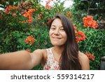 young mixed race  asian girl... | Shutterstock . vector #559314217