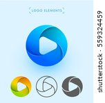 play logo design for corporate... | Shutterstock .eps vector #559324459