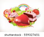 sweet heart. confectionery and... | Shutterstock .eps vector #559327651