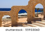 beach on red sea  egypt. | Shutterstock . vector #55933060