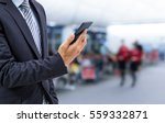 isolated business man hold the... | Shutterstock . vector #559332871