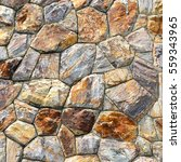 brown stone wall texture and... | Shutterstock . vector #559343965