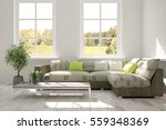 white room with sofa and green... | Shutterstock . vector #559348369