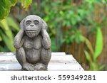 Monkey Statues In The Garden