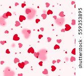 hearts background with... | Shutterstock . vector #559353895