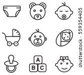 baby icons set illustration... | Shutterstock .eps vector #559354405