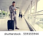 businessmen walk call phone... | Shutterstock . vector #559355944