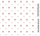 seamless heart pattern... | Shutterstock .eps vector #559359634