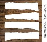 set of various white torn note... | Shutterstock .eps vector #559362271