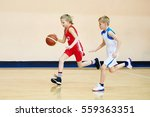 girl and boy athlete in sport... | Shutterstock . vector #559363351