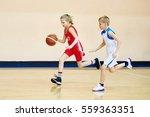 girl and boy athlete in sport... | Shutterstock . vector #559363351