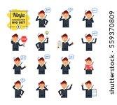 big set of ninja emoticons... | Shutterstock .eps vector #559370809