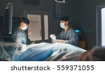 doctor and an assistant in the... | Shutterstock . vector #559371055