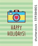 camera happy holidays greeting... | Shutterstock .eps vector #559384801