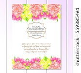 invitation with floral... | Shutterstock .eps vector #559385461