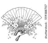 Hand Fan With Traditional...