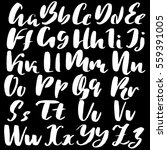 hand drawn font made by dry... | Shutterstock .eps vector #559391005