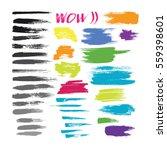 grunge hand drawn brush stroke... | Shutterstock .eps vector #559398601