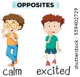 opposite words for calm and... | Shutterstock .eps vector #559402729