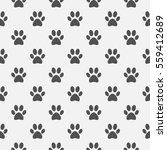 animal black paw footprint... | Shutterstock .eps vector #559412689