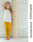 girl growth measures | Shutterstock . vector #559414609
