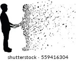 Silhouette Vector Of Man And...
