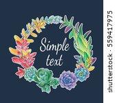 frame of succulentus | Shutterstock .eps vector #559417975