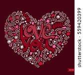 love postcard. lettering love.... | Shutterstock .eps vector #559420399