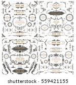 Set of Vintage Decorations Elements.Flourishes Calligraphic Ornaments and Frames | Shutterstock vector #559421155