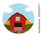 stable farm building icon | Shutterstock .eps vector #559425577