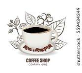 coffee vector | Shutterstock .eps vector #559434349