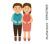 happy family member character | Shutterstock .eps vector #559437805